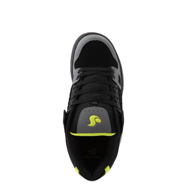 alternate view Mens DVS Celsius Skate Shoe - Black / Charcoal / LimeALT4B