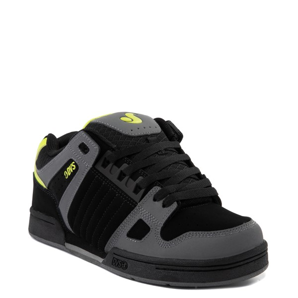 alternate view Mens DVS Celsius Skate Shoe - Black / Charcoal / LimeALT5