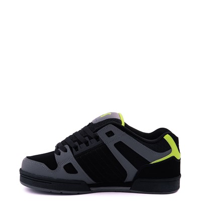 Alternate view of Mens DVS Celsius Skate Shoe - Black / Charcoal / Lime