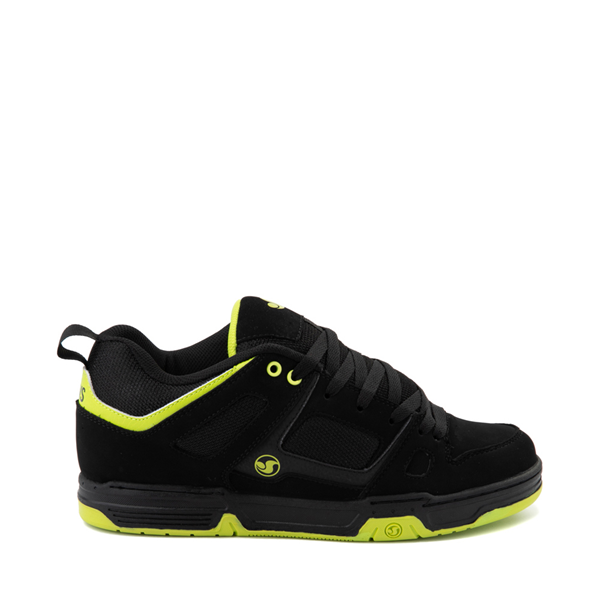Main view of Mens DVS Gambol Skate Shoe - Black / Lime
