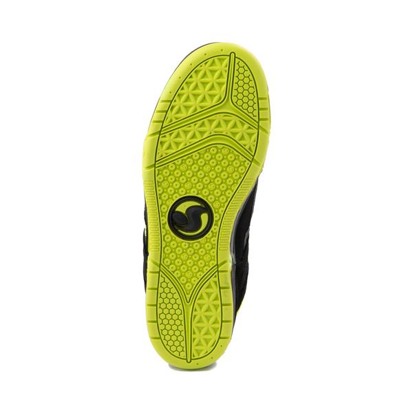 alternate view Mens DVS Gambol Skate Shoe - Black / LimeALT3
