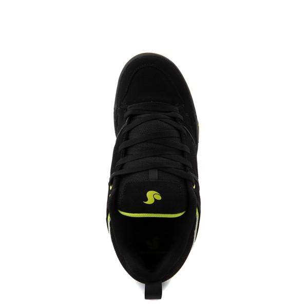 alternate view Mens DVS Gambol Skate Shoe - Black / LimeALT4B