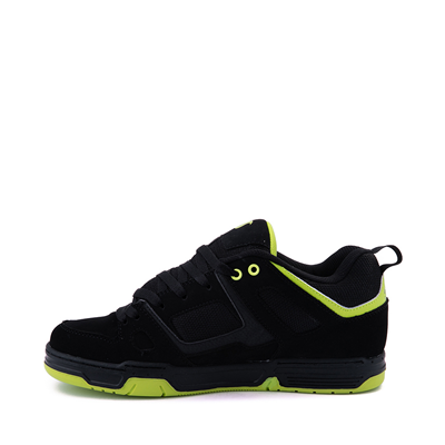 Alternate view of Mens DVS Gambol Skate Shoe - Black / Lime