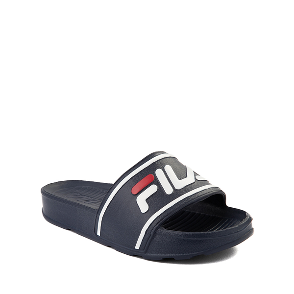 alternate view Fila Sleek Slide Sandal - Little Kid / Big Kid - NavyALT5