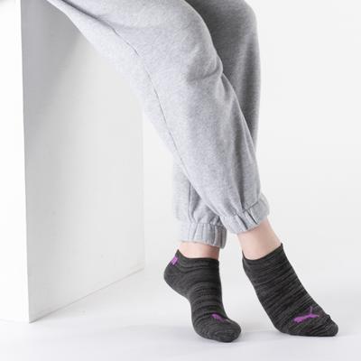 Alternate view of Womens Puma Super Soft Low Cut Socks 6 Pack - Black / Multicolor