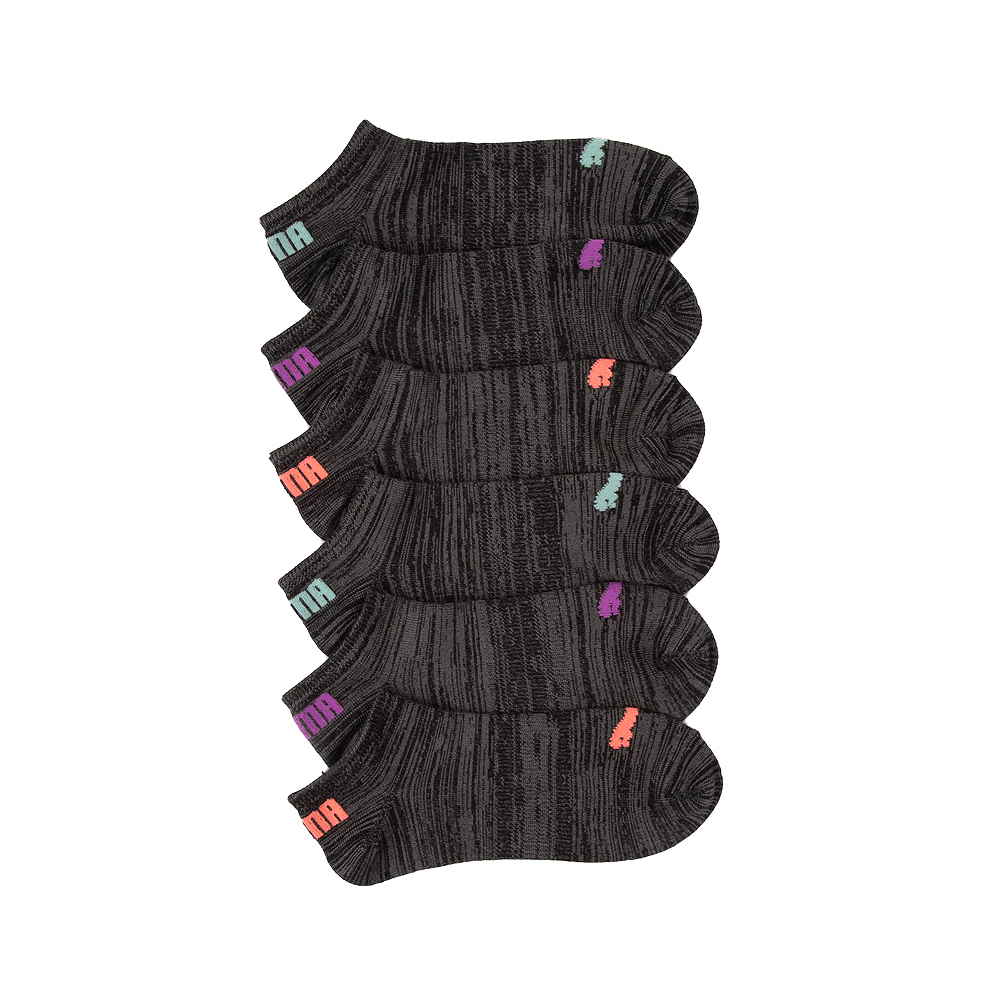 Womens Puma Super Soft Low Cut Socks 6 Pack - Black / Multicolor