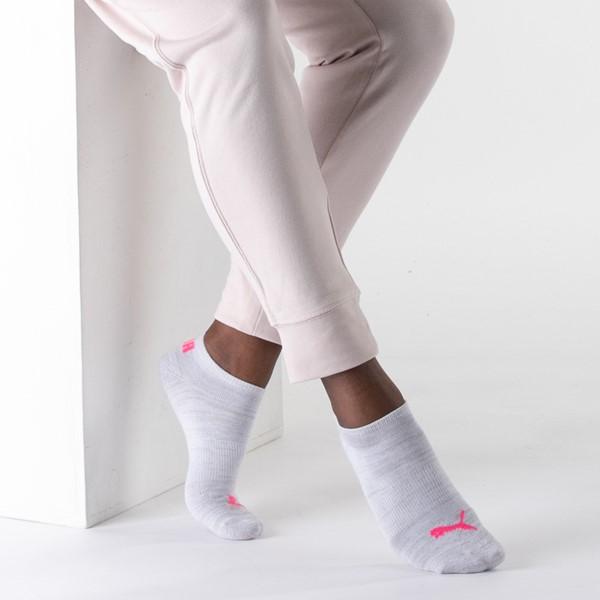 alternate view Womens Puma Super Soft Low Cut Socks 6 Pack - Gray / MulticolorALT1