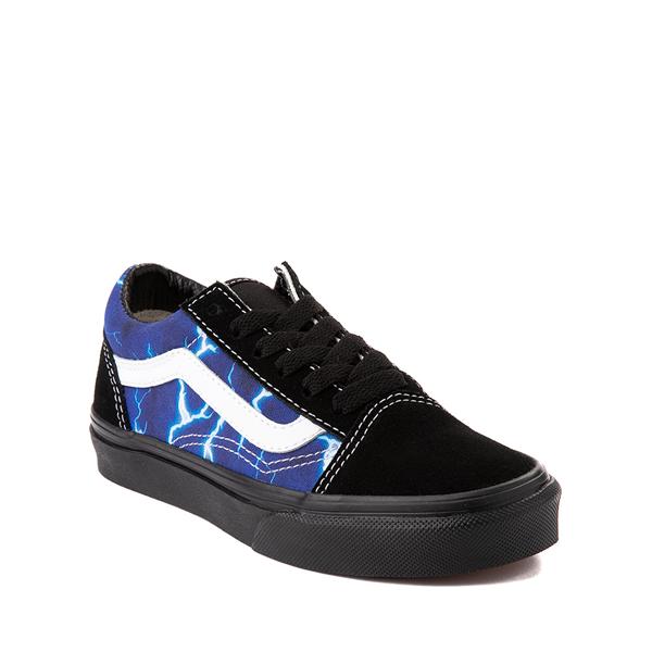 alternate view Vans Old Skool Skate Shoe - Little Kid - Black / LightningALT5