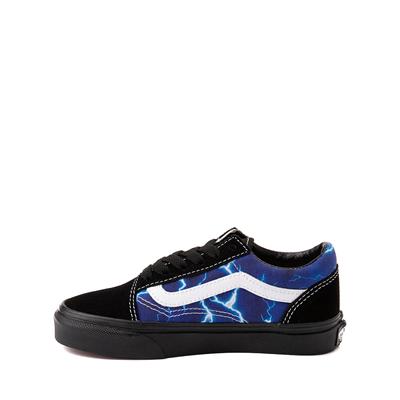 Alternate view of Vans Old Skool Skate Shoe - Little Kid - Black / Lightning
