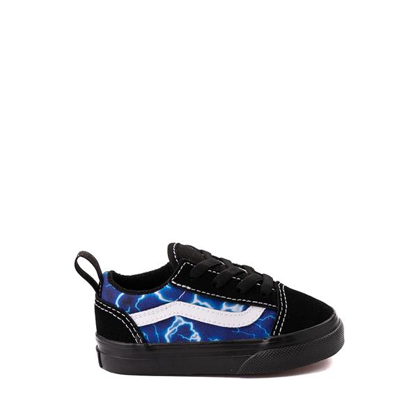 Vans Old Skool Skate Shoe - Baby / Toddler - Black / Lightning