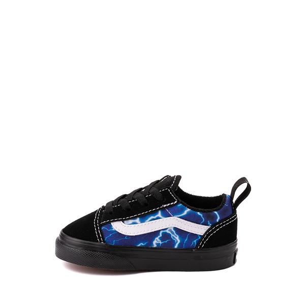 alternate view Vans Old Skool Skate Shoe - Baby / Toddler - Black / LightningALT1