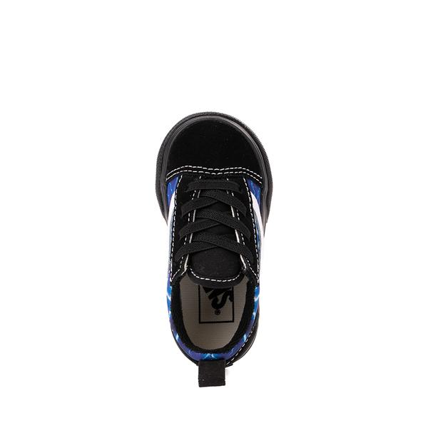 alternate view Vans Old Skool Skate Shoe - Baby / Toddler - Black / LightningALT2