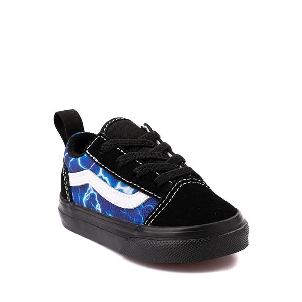 alternate view Vans Old Skool Skate Shoe - Baby / Toddler - Black / LightningALT5