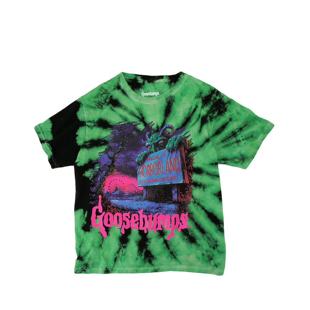 Goosebumps Tee - Little Kid / Big Kid - Green / Black Tie Dye