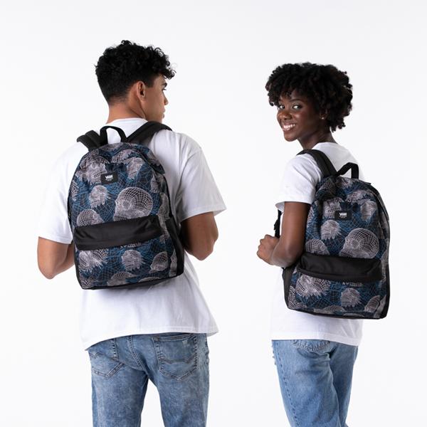 alternate view Vans Old Skool Wire Skull Backpack - BlackALT1BADULT