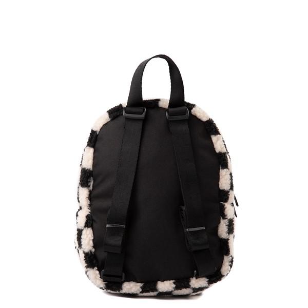 alternate view Vans Black Sheep Checkerboard Mini Backpack - Black / WhiteALT2