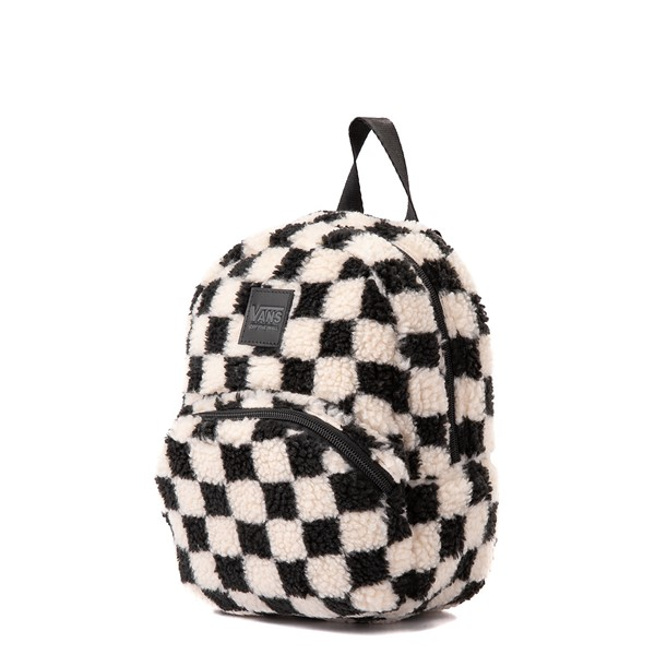 alternate view Vans Black Sheep Checkerboard Mini Backpack - Black / WhiteALT4