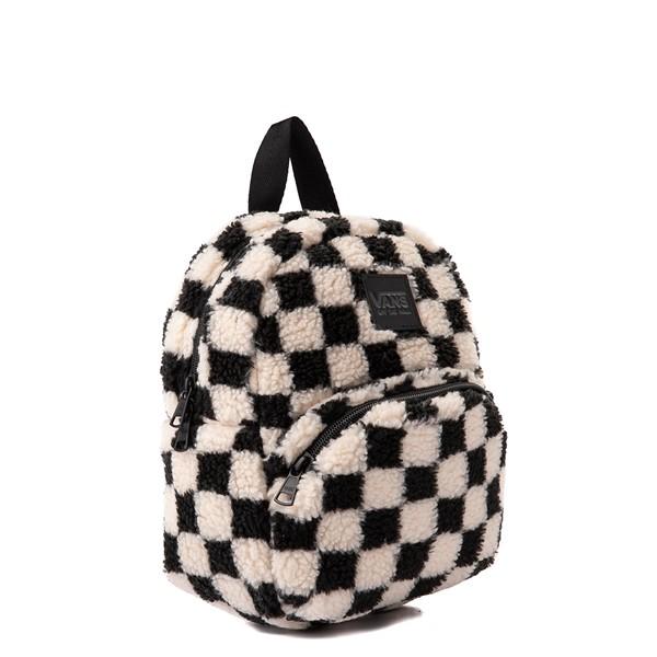 alternate view Vans Black Sheep Checkerboard Mini Backpack - Black / WhiteALT4B