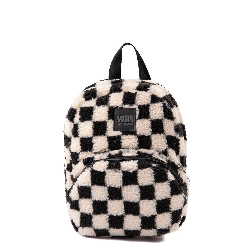 Vans Black Sheep Checkerboard Mini Backpack - Black / White