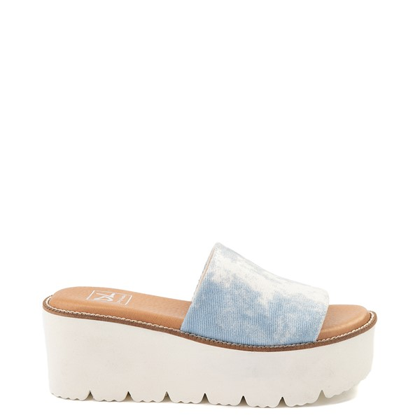 Womens Dirty Laundry Pivot Platform Slide Sandal - Blue