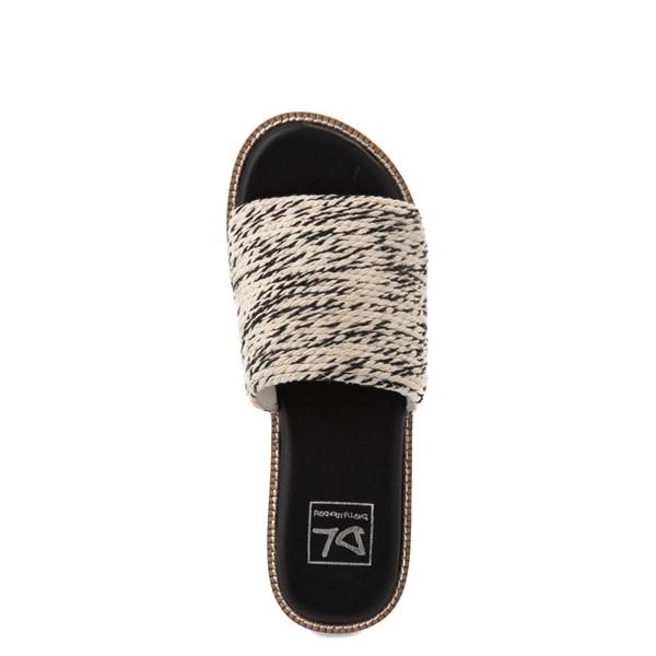 alternate view Womens Dirty Laundry Pivot Platform Slide Sandal - Black / NaturalALT4B