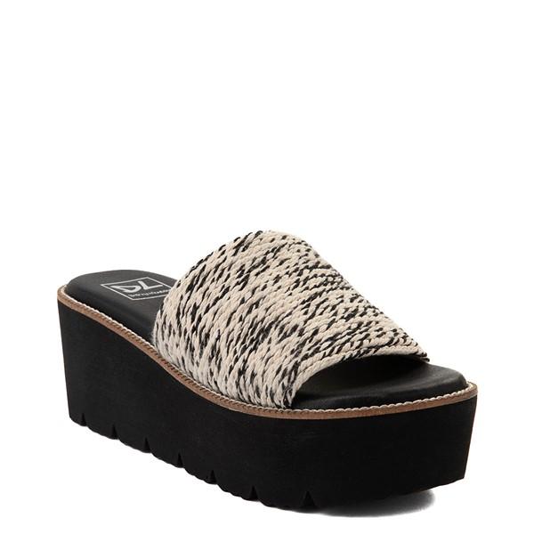 alternate view Womens Dirty Laundry Pivot Platform Slide Sandal - Black / NaturalALT5