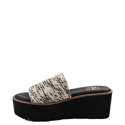 Alternate view of Womens Dirty Laundry Pivot Platform Slide Sandal - Black / Natural