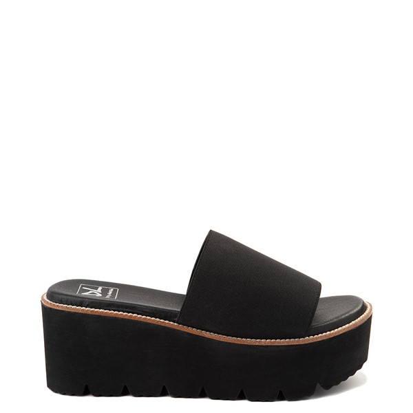 Main view of Womens Dirty Laundry Pivot Platform Slide Sandal - Black