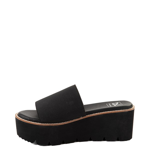 alternate view Womens Dirty Laundry Pivot Platform Slide Sandal - BlackALT1