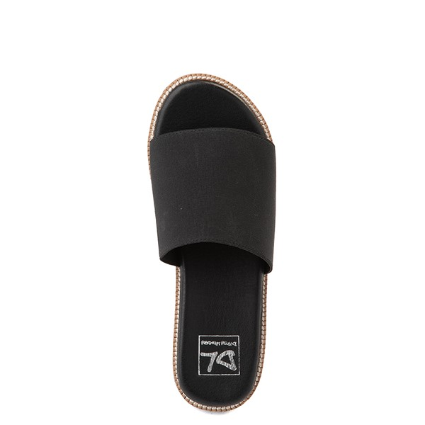 alternate view Womens Dirty Laundry Pivot Platform Slide Sandal - BlackALT2