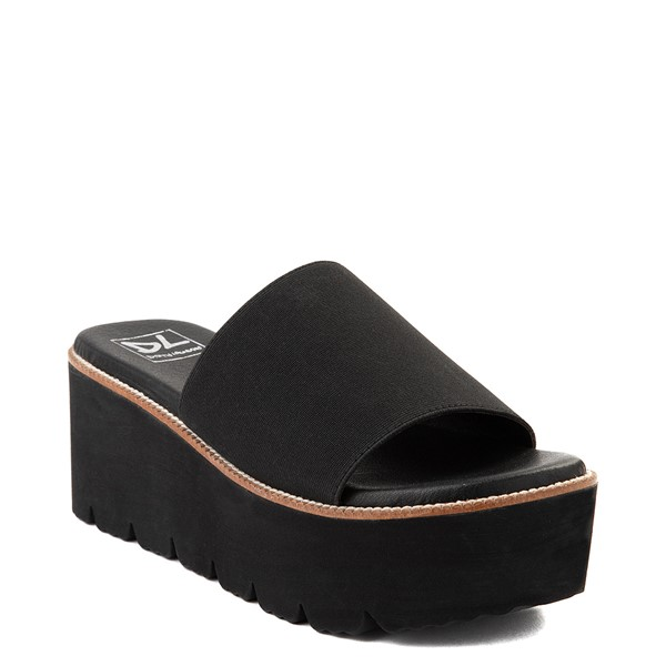 alternate view Womens Dirty Laundry Pivot Platform Slide Sandal - BlackALT5