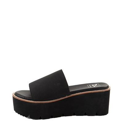 Alternate view of Womens Dirty Laundry Pivot Platform Slide Sandal - Black