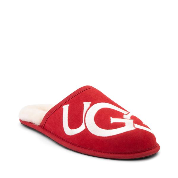 alternate view Mens UGG® Scuff Logo Slipper - Samba RedALT5