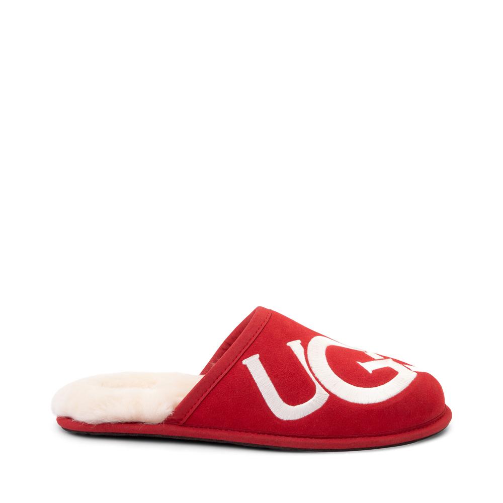 Mens UGG® Scuff Logo Slipper - Samba Red
