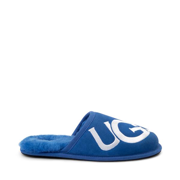Main view of Mens UGG® Scuff Logo Slipper - Classic Blue