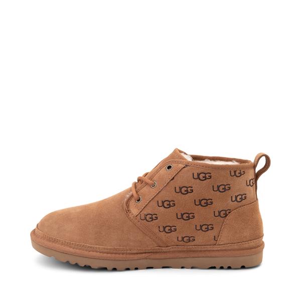alternate view Mens UGG® Neumel Emboss Casual Shoe - ChestnutALT1