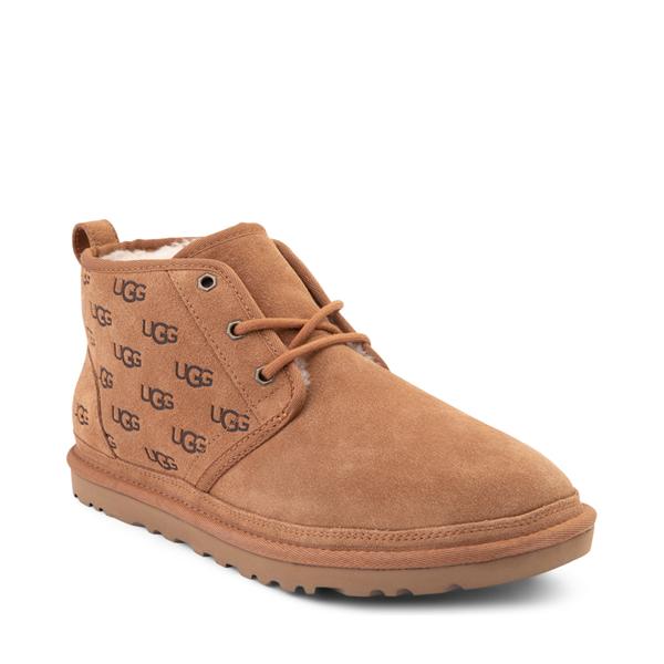 alternate view Mens UGG® Neumel Emboss Casual Shoe - ChestnutALT5
