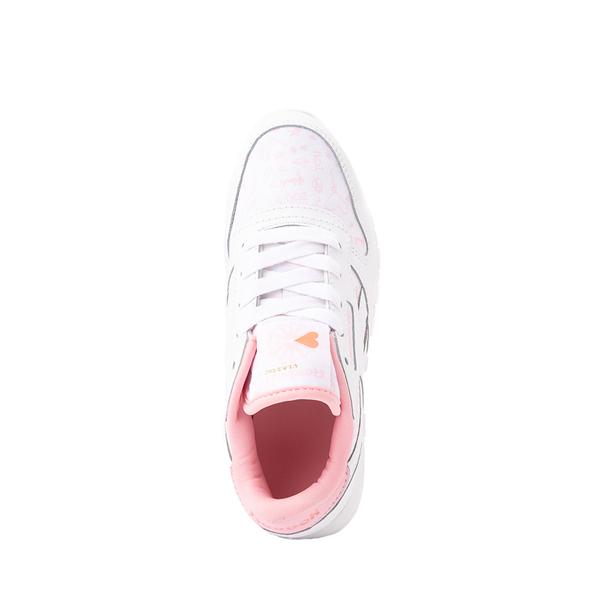 alternate view Reebok Classic Athletic Shoe - Little Kid - White / PinkALT2