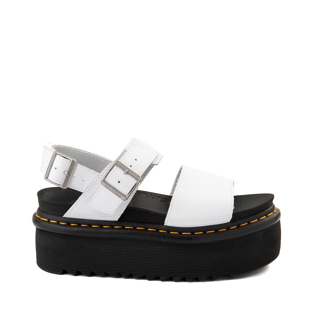 Womens Dr. Martens Voss Platform Sandal - White