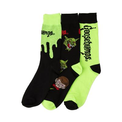 Alternate view of Mens Goosebumps Crew Socks 3 Pack - Black / Green