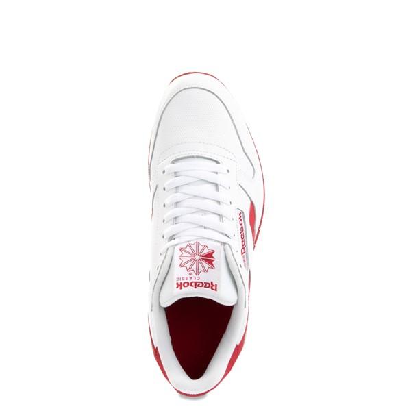 alternate view Mens Reebok Classic Leather Clip Athletic Shoe - White / RedALT2