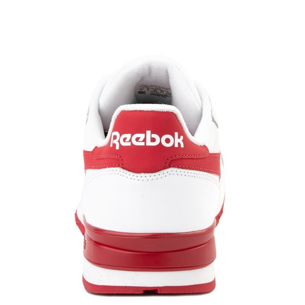 alternate view Mens Reebok Classic Leather Clip Athletic Shoe - White / RedALT4