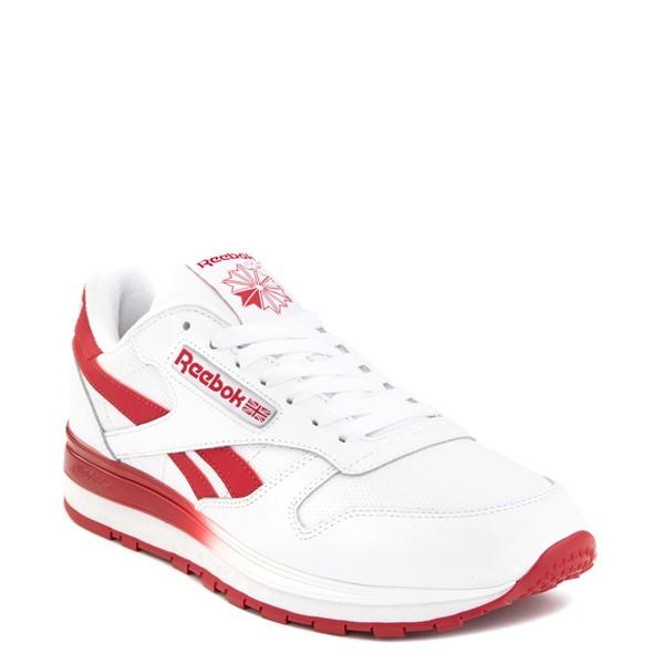 alternate view Mens Reebok Classic Leather Clip Athletic Shoe - White / RedALT5