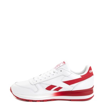 Alternate view of Mens Reebok Classic Leather Clip Athletic Shoe - White / Red