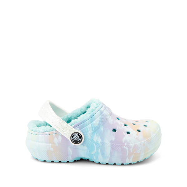 Crocs Classic Fuzz-Lined Out Of This World Clog - Little Kid / Big Kid - Tie Dye Sky