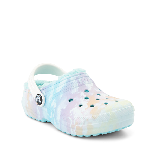 alternate view Crocs Classic Fuzz-Lined Out Of This World Clog - Little Kid / Big Kid - Tie Dye SkyALT5