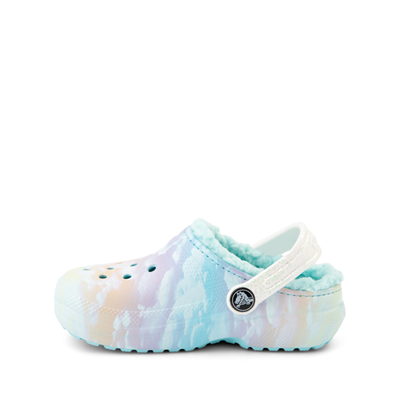 Alternate view of Crocs Classic Fuzz-Lined Out Of This World Clog - Little Kid / Big Kid - Tie Dye Sky