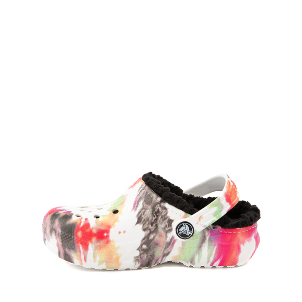 alternate view Crocs Classic Fuzz-Lined Clog - Baby / Toddler / Little Kid - White / Tie DyeALT1