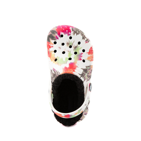 alternate view Crocs Classic Fuzz-Lined Clog - Baby / Toddler / Little Kid - White / Tie DyeALT2