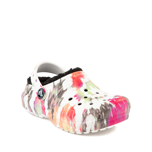 alternate view Crocs Classic Fuzz-Lined Clog - Baby / Toddler / Little Kid - White / Tie DyeALT5
